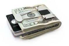 Engraved Mogul Money Clip - gift from bride to groom