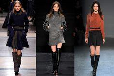 No te deshagas de tu mini falda, un par de botas serán el complemento para hacerla ad hoc al invierno.
