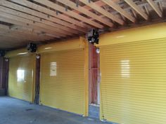 Cornell Iron Rolling Steel Doors-Inside View of the doors. Powdercoat Finish from Ral Color chart.  How about some yellow!!! Dutchess Overhead Doors, Inc.