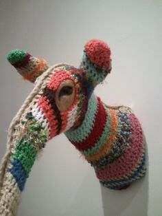 The secret is out:  a bit of crochet, and you, too, can have an anteater head on your wall.