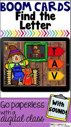 Boom Cards Find The Letter Scarecrow Fun! Daily 5 Activities, Guided Reading Activities, Interactive Learning, Fun Learning, Reading Groups, Google Classroom, Classroom Ideas, Kindergarten Classroom, Kindergarten Readiness