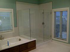 Custom glass shower doors binswanger glass shower swing door glass shower doors kansas city framed and frameless glass binswanger planetlyrics Gallery