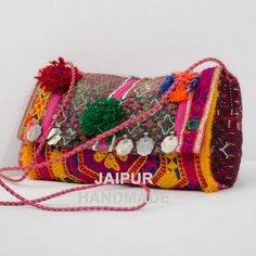 Banjara Clutch bag Bohemian Vintage Clutch por JAIPURHANDMADE