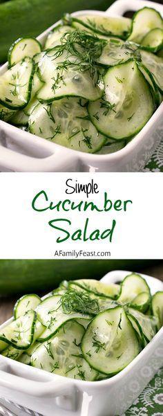 Simple Cucumber Salad – This easy salad has fantastic flavor!
