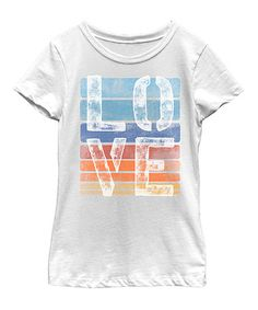 Another great find on #zulily! White 'Love' Tee - Kid & Tween #zulilyfinds