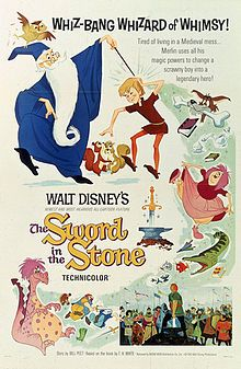 The Sword in the Stone (1963).  Arguably the best retelling of the King Aurthur legend that was filmed. The image was obtained from Wikipedia.
