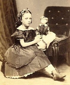 c1875-GIRL-WITH-DOLL-cdv-ST-BEES-Theological-College-Crest-REAY-Photographer