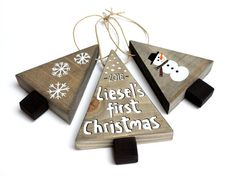 Babys first Christmas ornament Baby keepsake by cinnamontage