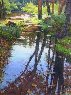 Parker Mill Creek pastel painting by Jill Stefani Wagner   www.jillwagnerart.com