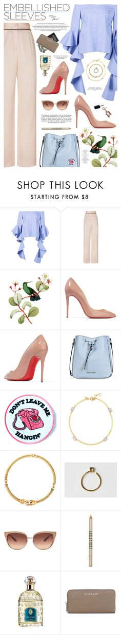 """""""Embellished Sleeves"""" by catarina-lau-sousa ❤ liked on Polyvore featuring Agent Provocateur, Christian Louboutin, Armani Jeans, Yvng Pearl, J.Crew, David Yurman, Tarin Thomas, Barton Perreira, Lord & Berry and Guerlain"""