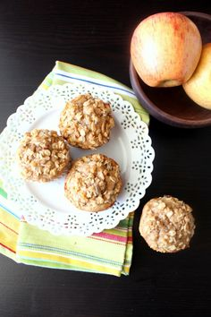 Peanut Butter Apple Muffins - Chocolate with Grace