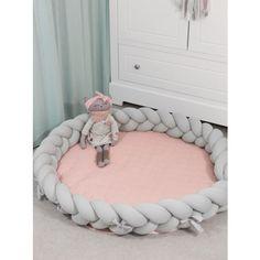 Luxury 2in1 fonott játszószőnyeg - Pink Knot Pillow, Bassinet, Room Decor, Pillows, Living Room, Luxury, Pink, Handmade, Furniture