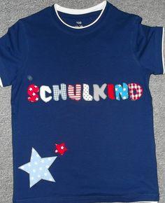 T-Shirt Applikation  122 Einschulung Schulkind von Findus-Fan auf DaWanda.com