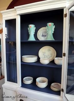 Blue and White Painted Furniture #ASCP