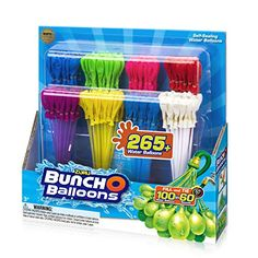 Zuru Bunch O Balloons 280 Rapid-Filling Self-Sealing Water Balloons, Multi-Colored Baby Girl Toys, Toys For Girls, Water Balloons, The Balloon, Kids Toys For Christmas, Frozen Toys, Princess Toys, Masquerade Party, Essentials