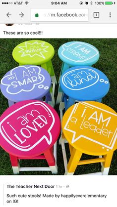 Flexible seating elementary diy Ideas for 2019 Classroom Layout, Classroom Design, Future Classroom, School Classroom, Classroom Themes, Classroom Organization, Stools For Classroom, Classroom Flexible Seating, Polka Dot Classroom