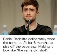 Daniel Radcliffe wore the same outfit for 6 months