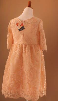 Soft and Beautiful Blush Lace & Silk/Cotton Dresses for Girls