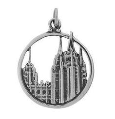 Salt Lake Temple Charm Silver Plate - J33a - http://www.everythingmormon.com/salt-lake-temple-charm-silver-plate-j33a/  #mormonproducts #LDS #mormonlife