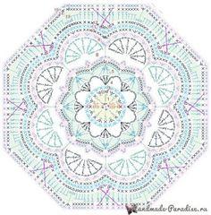 Transcendent Crochet a Solid Granny Square Ideas. Inconceivable Crochet a Solid Granny Square Ideas. Motif Mandala Crochet, Crochet Mandala Pattern, Crochet Blocks, Granny Square Crochet Pattern, Crochet Flower Patterns, Crochet Diagram, Crochet Chart, Crochet Flowers, Crochet Squares