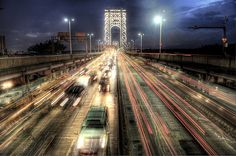 Fort Lee, Washington Heights, Major Holidays, Hudson River, George Washington Bridge, Railroad Tracks, New York City, Sidewalk, Tower