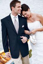 Custom made noivo terno do casamento para o noivo terno azul mens ternos de lã grátis frete para 2015 ternos de duas peças(China (Mainland))