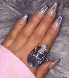 Spring acrylic nails coffin unique 50 acrylic nail designs for spring summer 2018 nail art Elegant Nail Designs, Fall Nail Designs, Acrylic Nail Designs, Acrylic Nails, Art Designs, Pretty Nails, Fun Nails, Milky Nails, Crome Nails
