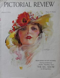 Rare Aug 1926 Rolf Armstrong Pictorial Review COVER ONLY Deco Lovely Lady by Lorisvintageads on Etsy