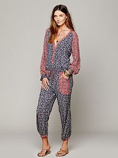 I'm sure this will look good on someone...just not everyone, and especially not me. -Free People Leia Jumpsuit