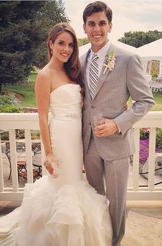 Vera Wang is pretty much synonymous with weddings, so it's no surprise Julia Engel, from Gal Meets Glam, chose a dress by the designer for her big day.