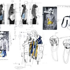 INTRODUCING : ADAPTIVE TRAVELER 02 Caoimhe Savage (IR) of Kingston University  #modebelofte #adaptivetravelers #ddw16 #fashion #dutchdesign #dutchdesignweek #fashionsketch #youareherestore @kingstonuniversity Mode Portfolio Layout, Fashion Portfolio Layout, Fashion Design Sketchbook, Portfolio Examples, Fashion Sketches, Portfolio Design, Sketchbook Layout, Textiles Sketchbook, Illustration Mode