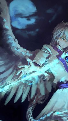Anime angel boy with magical arrow md Iphone Wallpapers Hd - Best Home Design Ideas