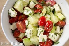 This Simple Greek Salad comes together in five minutes. By using a few key flavors you can whip up a restaurant quality side in no time.