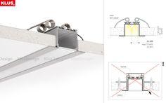 Klus Larko-profil cu leduri pentru tavane din gips carton