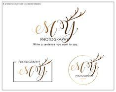 Antlers Logo, Wedding logo, Photography Logo, Premade Logo Design, Makeup artist Logo design, Branding Package, Watermark for Photos Makeup Artist Logo, Photography Logo Design, Branding, Wedding Logos, Logo Stamp, Business Names, Brand Packaging, Background Images, Place Card Holders