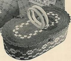 Free Crocheted Work Basket - Vintage / Antique Pattern from 1940s