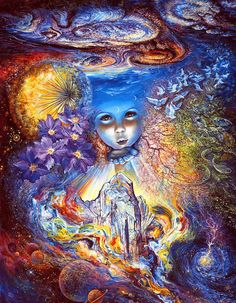 peinture « Child of the Universe » / « Enfant de l'Univers » par Josephine WALL • peintre surréaliste et sculptrice anglaise — http://maessage.wordpress.com