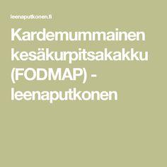 Kardemummainen kesäkurpitsakakku (FODMAP) - leenaputkonen