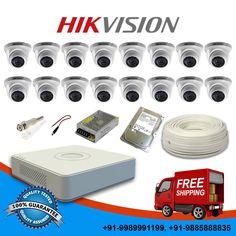 Hikvision 7100 Series 16 Ch DVR+16 CCTV 600TVL IR Dome Cameras+1TB HDD Total KIT