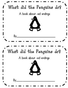 Penguin ed ending book- emergent reader