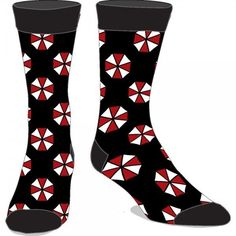 Resident Evil Umbrella Logo 20th Anniversary Video Game Adult Crew Socks #ResidentEvil #Crew