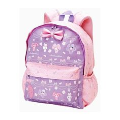 Kawaii ❤ liked on Polyvore featuring bags, backpacks, bookbags, purple bag, backpack bags, daypack bag, pin bag and day pack backpack
