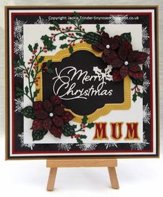 Tinyrose's Craft Room: A Fair Trade. A Christmas card featuring Sue Wilson dies and Tonic dies.