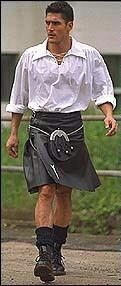 """Century Kilts - """"Bravehearts in Kilts Against Trouser Tyranny: Why men should be free to wear kilts and other kilt-like clothing."""" - An interesting perspective related to our cultural biases toward men in kilts [vs. men in trousers], etc. Tartan Men, Tartan Kilt, Scottish Man, Scottish Kilts, Scotland Men, Leather Kilt, Man Skirt, Men In Kilts, Shirtless Men"""