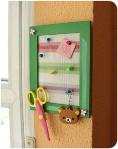 clear colours: Fabric cork frame