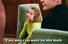 """If you want, I can watch the Mini Booth"" - Aubrey (Haha!) and Christine #Bones"