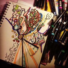 Exploring my brain. Art by mrkookky