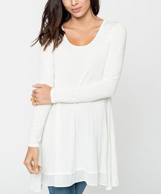 This Caralase Ivory Tiered Tunic by Caralase is perfect! #zulilyfinds