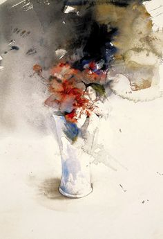 "Lars Eje Larsson/""Shy Bouquet"" 56 x 35 cm, watercolor Watercolor Artists, Abstract Watercolor, Watercolor And Ink, Watercolor Illustration, Watercolour Painting, Watercolor Flowers, Watercolors, Art Aquarelle, Abstract Flowers"