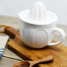White Ceramic Juicer by freckled hen farmhouse